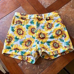 American Apparel Sunflower Cuffed Shorts